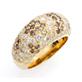 メディセソバージュリング K18 イエローゴールド ダイヤモンド